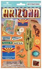 Scrapbooking Crafts Stickers 2D Arizona Grand Canyon Cactus Tucson Phoenix Mesa