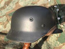 Org M40 Wwii German Stahlhelm 1940 Helmet m35 Q66 Large Size profes-ly restored