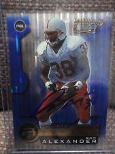 Dan Alexander I-Back Autographed 2001 Quantum Leaf Card Nebraska Huskers Titans