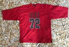 Rare Vintage Nike Red 3/4 Length T-shirt, Size L.