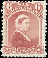 Mint H Canada Newfoundland 1870 6c F Scott #35 Stamp