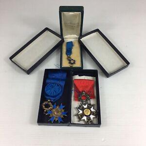 French Order Of National Merit Diamond Set Miniature & Legion d'honneur Medals