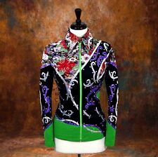 X-SMALL Showmanship Pleasure Horsemanship Show Jacket Shirt Rodeo Queen Rail Top