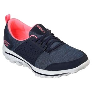 NEW Womens Skechers Go Walk 2 Sugar Golf Shoes Navy / Pink Sz 6 M