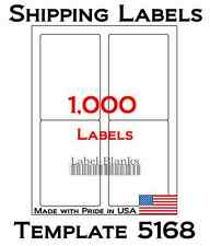 1000 Laser Ink Jet Labels 35 X 5 Shipping Compatible With Size 5168 250