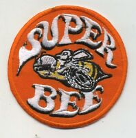Hot Rod Patch Super Bee Badge Drag Race Muscle Classic Car Jacket iron On white