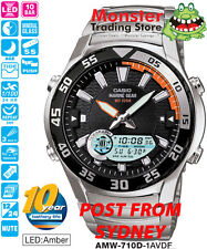 AUSTRALIAN SELER CASIO FISHING WATCH TIDE GRAPH AMW-710D-1AV AMW710 12 MTH WRNTY
