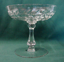 "Cambridge LAUREL WREATH CLEAR #3700 4-5/8"" tall Compote"