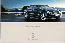 Mercedes-Benz C-Class Saloon 2004-05 UK Market Sales Brochure