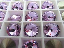 4 Violet Foiled Swarovski Rivoli Stone 1122 12mm
