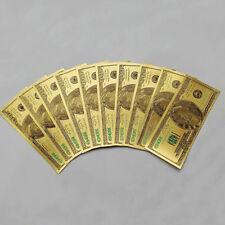 Golden 100p 1:1 $100 100dollar 24k Gold FoilUsd Paper Money Banknotes Crafts Fe