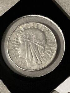 1934 POLAND Queen Jadwiga & Eagle Polish Antique Silver 5 Zlotych Coin i74030