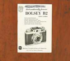 BOLSEY B2 INSTRUCTION BOOK/47359