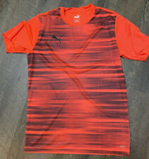 Puma Men'S Drycell Orange Black Active Athletic Running Shirt Nwot Medium