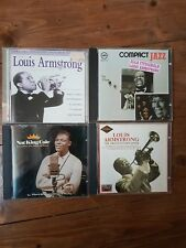 Ella fitzgerald louis armstrong Nat King Cole Jazz CD X4 Verve Records