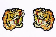 Tiger Embroidered Patch (1 Pair) Tiger Head Gucci Style T-shirt Iron On Applique