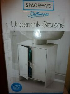 2 Door Under Sink Bathroom Storage Cabinet Undersink Cupboard(L)=Free UK POST