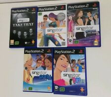 Singstar PS2 5 Game Bundle 90's, Boy VS Girl Bands, Party and Take That