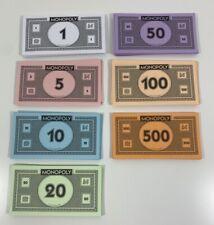 Monopoly Full Set Money 2008 Hasbro Parker Brothers