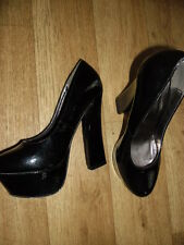 Ladies size 5 killer heels platforms black Odeon