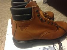 VTG, 6-INCH TALL RED WING SAFETY BOOTS,STYLE/STOCK # 8236,SIZE 8.5-9 D,M