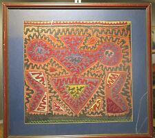 Antique San Blas Islands Panama fabric mola textile abstract art