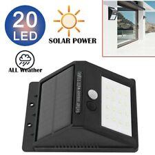 SOLAR POWER 20LED PIR MOTION SENSOR WALL SECURITY LIGHT GARDEN LAMP UKDC