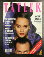 Tatler Magazine: Victor Edelstein & Chantal by Terry O'Neill, February 1990