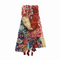 180x100cm Women Soft Cotton Voile Totem Print Scarf Shawl Wrap Scarve Pashmina