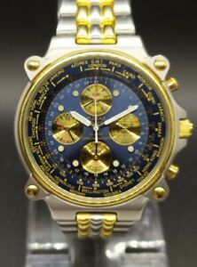 Vintage Pulsar World Timer N94J-6A00 Chronograph Men's Watch