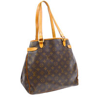 LOUIS VUITTON BATIGNOLLES VERTICAL TOTE BAG CA0065 MONOGRAM M51153 AUTH 34981