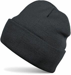 Wintermütze Beanie Strickmütze, warme Feinstrick Mütze doppelt gestrickt, Unisex