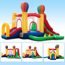 Inflatable Bouncy Bounce House Castle Play House Jump Room Slide Basketball Hoop