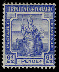 TRINIDAD & TOBAGO GV SG151a, 2½d bright blue, M MINT.
