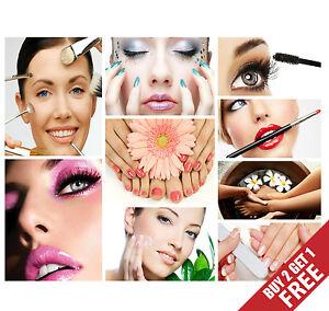 Make Up Poster For Beauty Salon, Manicure Pedicure Photo Print For Spa Shop Deco