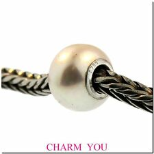 AUTHENTIC  TROLLBEADS 51702 White Freshwater Pearl Bead