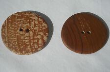 One Handmade Applewood Button, Approx. 53mm Diameter, Item 198