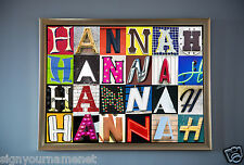 "Framed Personalized Poster (LARGE-20""X30"") Featuring ANY NAME in Sign Letters"