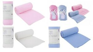 Soft Baby Blanket Cellular Fleece Bundles Multi Buy Newborn Cot Pram Gift