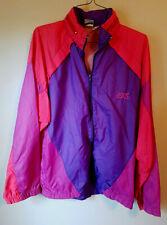 Vintage Asics Neon Puprle Orange Nylon Windbreaker Jacket Mens Large