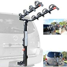 4 Bikes Hitch Mount Foldable Carrier Car SUV Vehicle Bicycle Rack Receivers