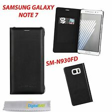 CUSTODIA COVER FLIP CASE NERO PER SAMSUNG GALAXY NOTE 7 SM-N930FD