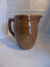 Monmouth Western Stoneware Deco Design Brown Milk Pitcher
