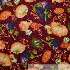 BonEful Fabric Fq Cotton Quilt Maroon Pumpkin Purple Egg Plant Garden Vegetable