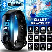 Reloj De Pulsera Inteligente Deporte Bluetooth Monitor De Ritmo Cardíaco Fitness