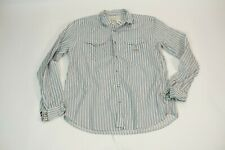 Denim & Supply Ralph Lauren pearl snap western long sleeve shirt size large mens
