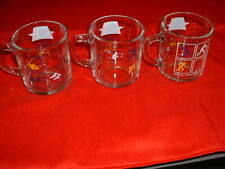 McDonalds 1984 Olympic  Glass coffee mugs - set of three -