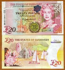Guernsey, 20 pounds, 2012 P-61, QEII, UNC > Commemorative, Diamond Jubilee