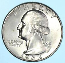 Brilliant Uncirculated 1963 Washington Quarter Coin BU 90% Silver US Lot