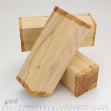 3 Punky Spalted Beech wood turning spindle blanks. 73 x 73 x 205mm. 5195A